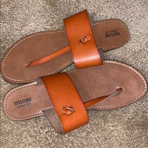 Mossimo brown leather sandals